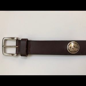 Other - Leather NC North Carolina men's size 34 belt